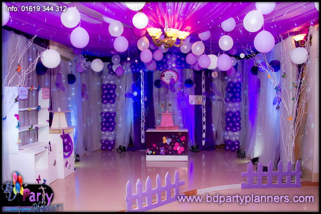 Actress Purnima Girl Arshia 1st Birthday With Butterfly Theme BD Event Management Wedding Planners