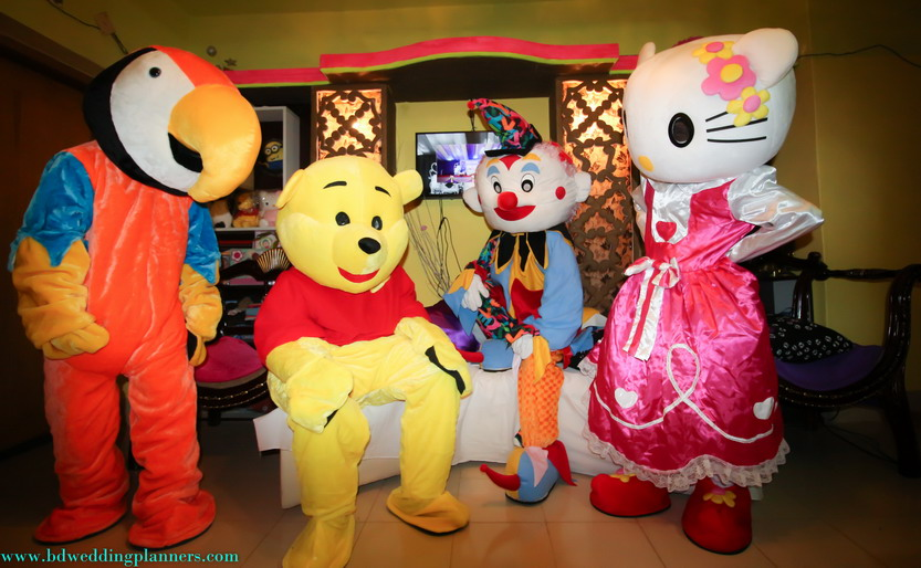 Birthday Mascot for Rent or Doll for kid fun & game at Bangladesh