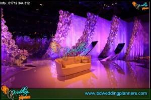 Premium royaal wedding stage & flower decoration by bdweddingplanners.com