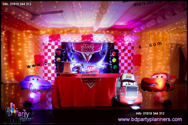 Car theme birthday decor dhaka BD Event Management Wedding Planners