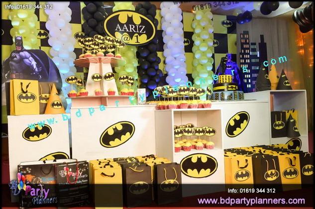 BATMAN theme Birthday Decoration Birthday Party at Bangladesh BD