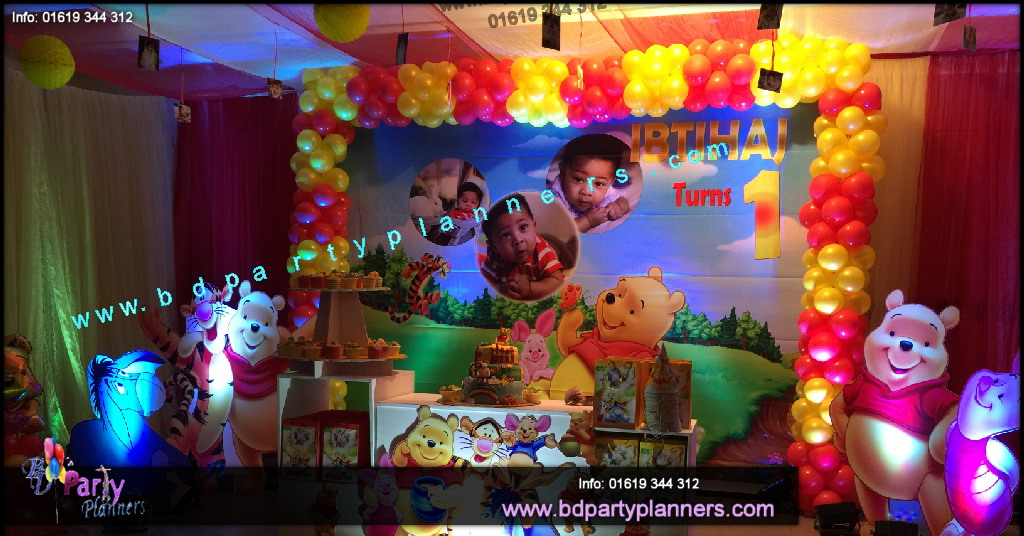 Winne The POOH theme Birthday Decoartion by BD Event Management