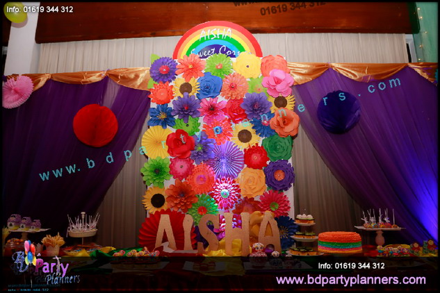 Rainbow Theme Birthday Decortion Bd Party Planners Bd Event