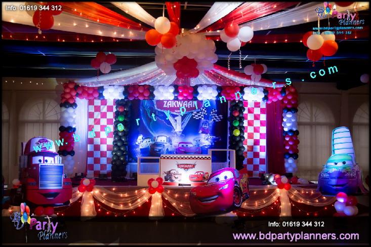 DISNEY Cars THeme Decoration Party Planning BD Event Management