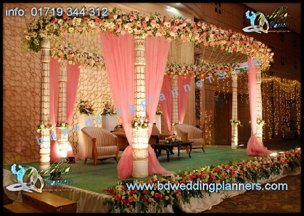 Wedding stage decor design bangladesh bd event for American wedding stage decoration