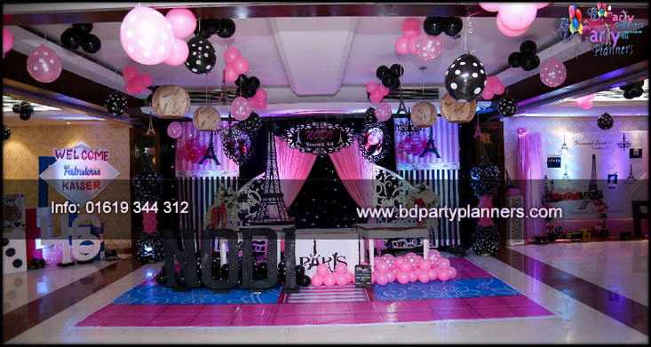 Pink Paris Theme Birthday Dhaka Abdullah Al Kaiser Mp